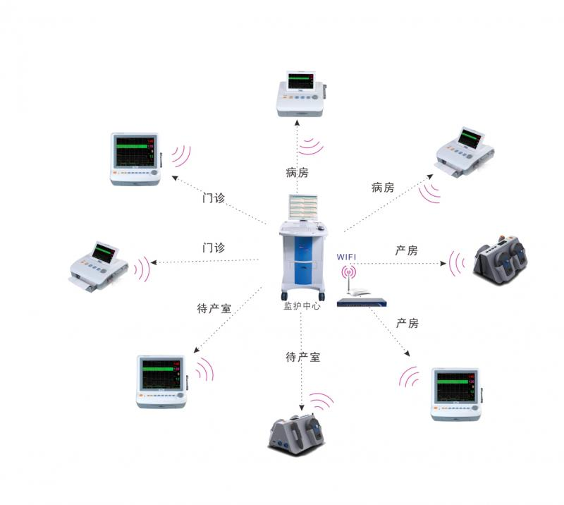 Fetal monitoring network system JPD-300K