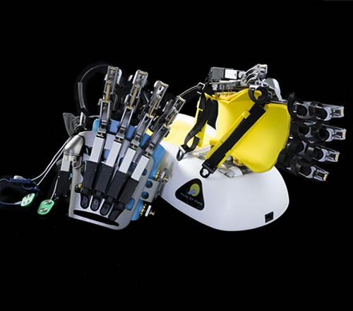 """Hand of Hope"" robotic hand training devices"
