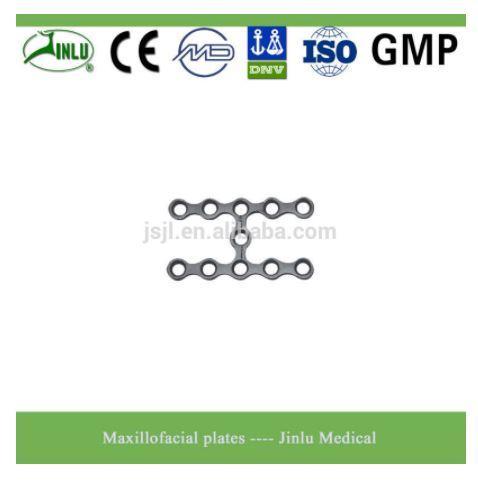 Maxillofacial plate H shape