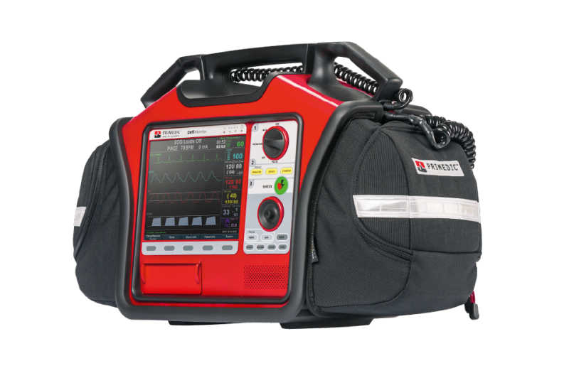 Semi-automatic external defibrillator / with 12 lead ECG, SpO2, NIBP, EtCO2, IBP and temperature