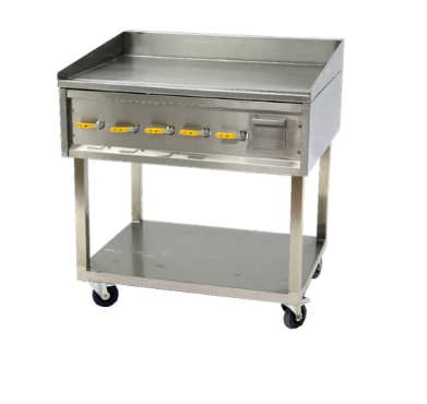 900 MM GAS FLAT TOP GRIDDLES (FLAT PLATE) - FLOOR STANDING	- FTG0900