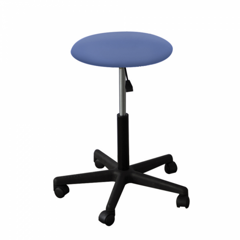 ADJUSTABLE STOOL 5 WHEELS FEET NYLON-BLUE LAVENDER (SEAT 3.5CM)