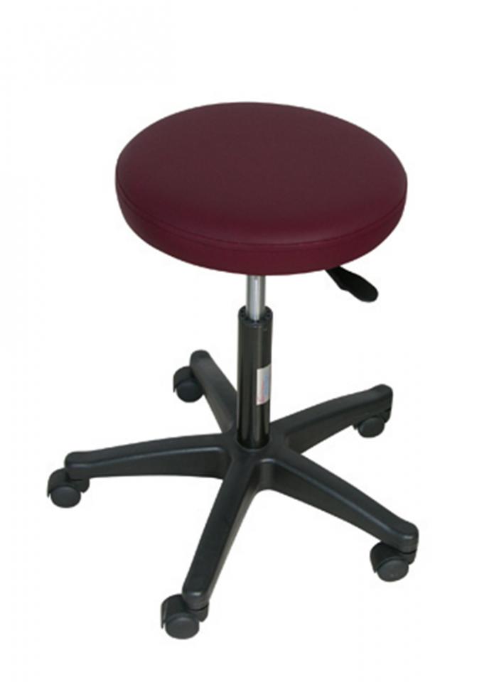 ADJUSTABLE STOOL 5 WHEELS NYLON FEET -BORDEAUX (H SEAT 3.5 CM)