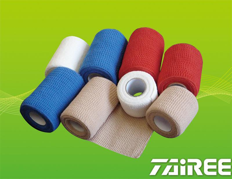 Cotton Crepe Self-adhesive Elastic Bandage