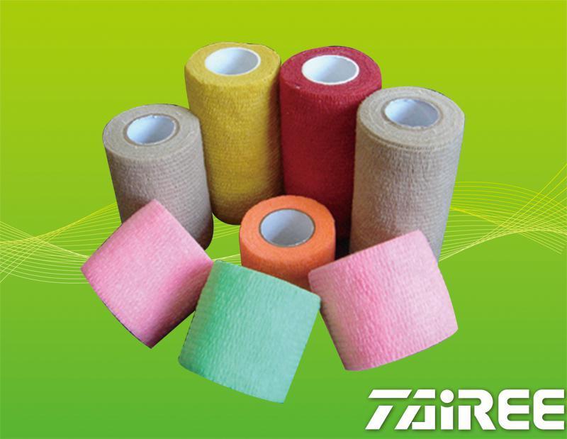 Non-woven Crepe Self-adhesive Elastic Bandage
