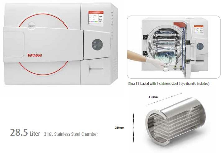 Elara 11D - Class B Post Vacuum Medical Autoclave | Tuttnauer