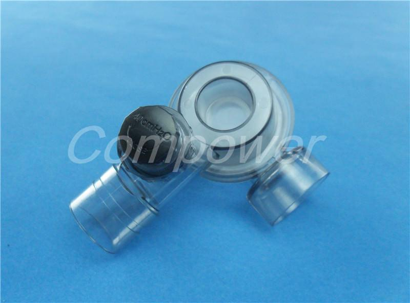 Non-rebreathing valve with peep-valve diverter