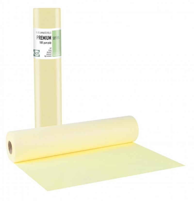Pure pulp + Pe glue Yellow Roll