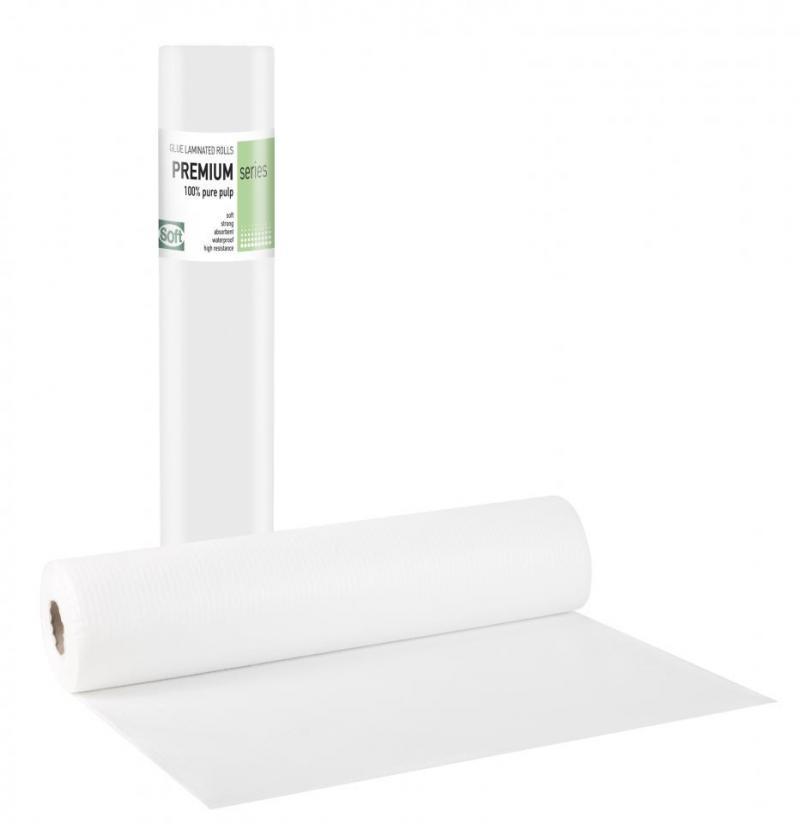 Pure pulp + Pe glue White - 50cm x 50m