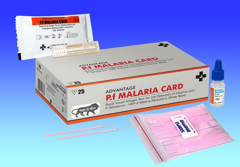 Malaria Rapid Test for detection of P. falciparum (p.f)