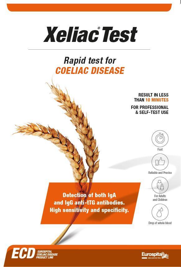 Rapid test for coeliac disease on whole blood.
