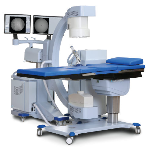 Medispec's lithotripsy systems combine one of the highest pressures with the largest focal zones in the industry. Medispec's large focal zone covers a larger surface area than the other systems, so it is more likely to hit the stone, increasing speed and efficiency in the treatment and superior performance.