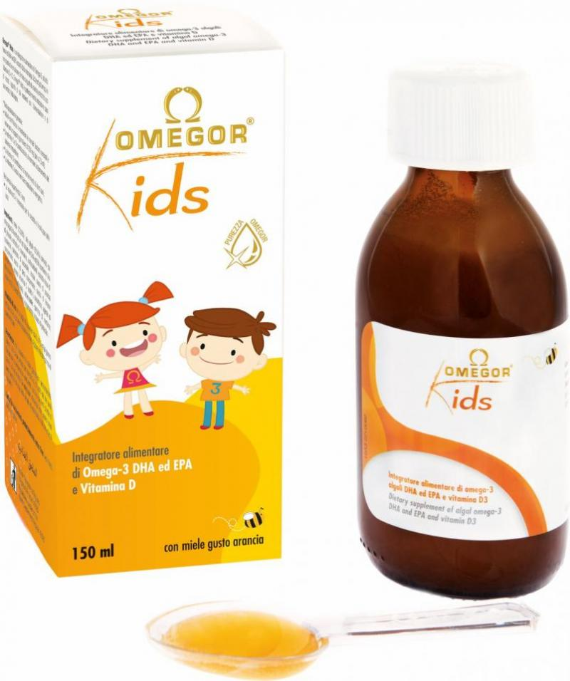 OMEGOR® Kids - omega-3 DHA froma algae and D3 in honey emulsion for children