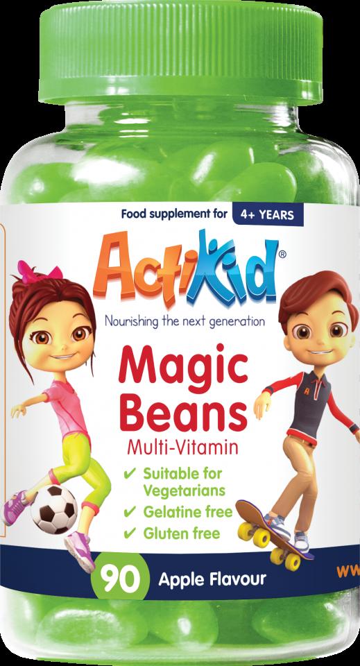 ActiKid Magic Beans Multi-Vitamin Apple flavour 90s
