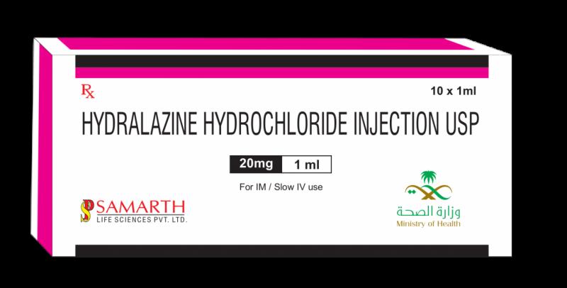 Hydralazine Hydrochloride Injection 20 MG / 1 ML