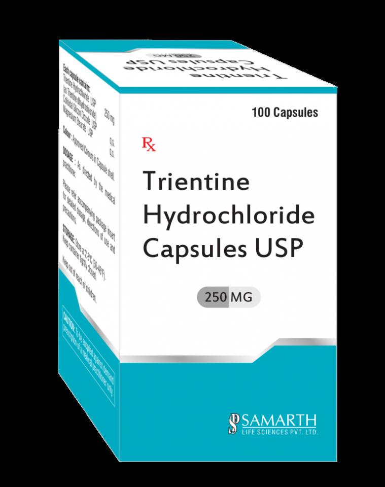 Trientine Hydrochloride Capsules 250mg