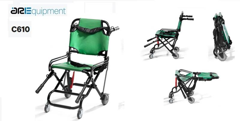"""ARE C610 Orthopedic foldable wheelchair in """"X"""""""