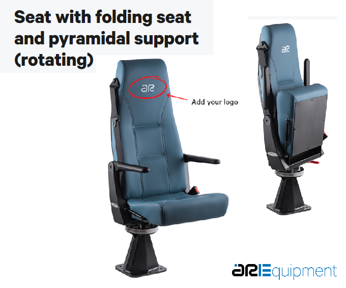 ARE Folding Chair Seat with rotative pyramidal support
