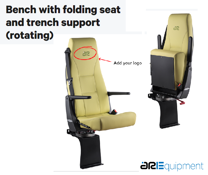 ARE Folding chair seat for cavia wheel with rotative support