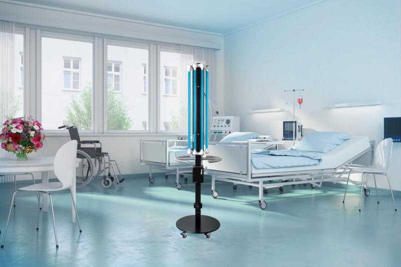 UV-Mobil in patient room against super bugs