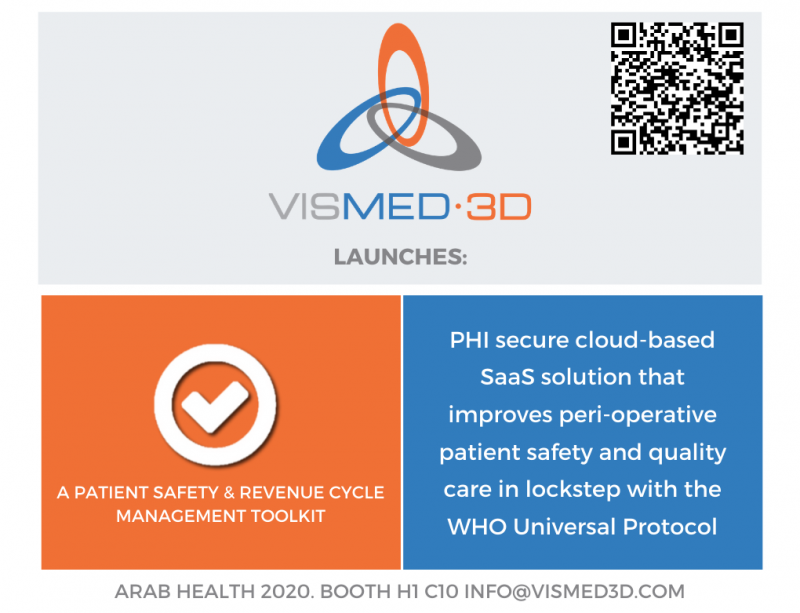 VisMed3D.com launches PATIENT SAFETY and REVENUE CYCLE MANAGEMENT TOOLKITBooth H1 C10