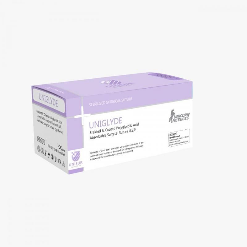 UNIGLYDE - Braided and Coated Polyglycolic Acid Suture