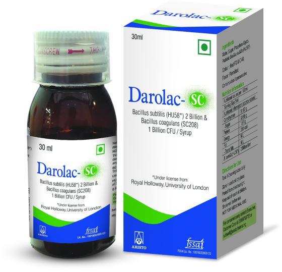 Bacillus subtilis and Bacillus coagulance probiotic syrup