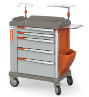 The PERSOLIFE emergency trolley by Francehopital with 600 mm drawers