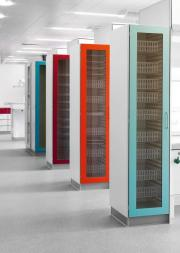 MODUL-iT ISO Modular Cabinets with colored glass doors