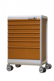 MODU-FLEX colored cart/trolley with telescopic drawers