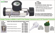 MEDITECH Regulators Pin Index Inlet Fitting
