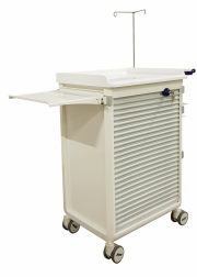 MODU-FLEX modular nursing trolley with roller shutter