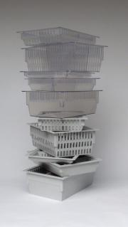 Our complete range of ISO modular trays an baskets in grey and transparent ABS