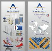 AGENCINOX has 60 years of experience, in design and manufacture hospital furniture and solutions for the healthcare market around the world, using a selected quality of stainless steel 18/10 AISI 304 (1-4301). Our experience is more than 100 countries covered with our product range in the history and total satisfaction by our entire customers. Our production is totally made in France. AGENCINOX is certified ISO 9001/2008 and ISO 13485/2012 and comply with the European directive EC 93/42.