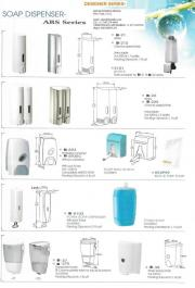 Designer Series®  variety of elegant space saving automatic and manual wall mounted soap, shampoo, conditioner, and lotion dispensers;