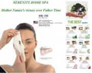 SERENITY HOME SPA® and VANITY®  Pre-moistened beauty repairing Conduction Facial Masks for that seductive face. Aging management tool that minimizes pores, covers unsightly wrinkles – signs of aging discreetly by  combining natural minerals in a liquid hydrating foundation. Skincare complying with local import requirements, for upper class Aloe Vera, Collagen, Wrinkle,  Acne, Aging, Whitening management inclusive of Eye, Face, Lips, Nose, Hands, Forehead, Neck, Feet, Breast, Nipples, Knees, Hips, Buttocks,
