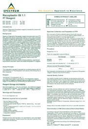 recombinant Recoplastin PT reagent ISI 1.0