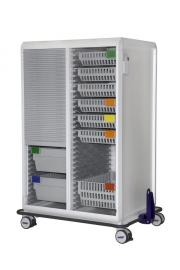 MODU-FLEX 2 section modular transport trolley with roller shutter