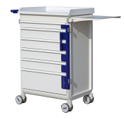 MODU-FLEX cart/trolley with telescopic drawers for sealing