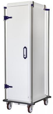 MODU-FLEX 1 section ISO modular transport trolley with door + code lock + lower bumper