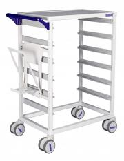 MODUL-iT Open nursing trolley with waste bag holder