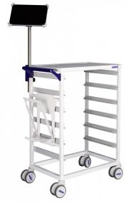 MODUL-iT Open nursing trolley with tablet holder