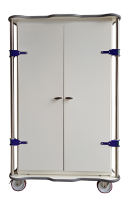 MODU-FLEX 2 section ISO modular transport trolleys with doors and upper + lower bumper