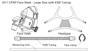 CPAP mask with tubing