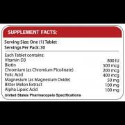 SENSOLIN Supplement Facts