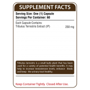 Tribulus Terrestris Supplement Facts
