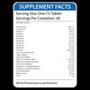 Visionex Supplement Facts
