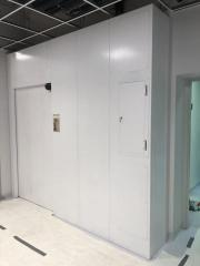 sliding radiation shielded door linear accelerator bunker shielding riga latvia