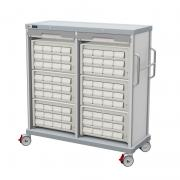 PRECISO TRS140-D double medication transfer column, with cassettes, bins and rolling shutters