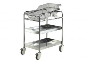 Stainless steel medical crib for new born baby